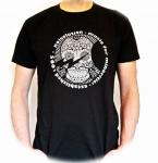 Noisolution T-Shirt / schwarz mit silbergrauem Druck